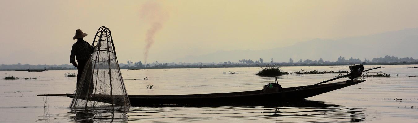 jezioro inle rybacy